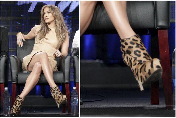 Otra que se inclinó por esta combinació fue Jennifer Lopez. Estos botine...