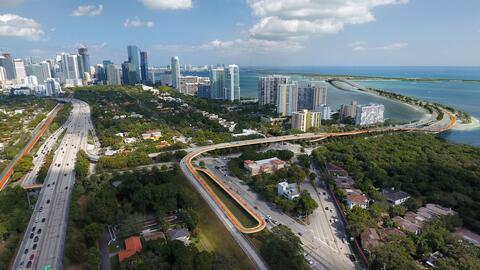 aerial view plan z miami