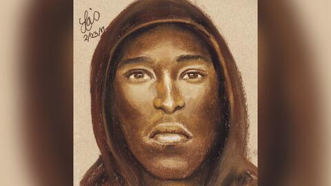 Retrato del sospechoso de matar a un joven en un restaurante Subway en e...