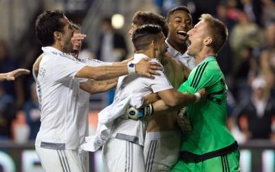 Sporting KC celebra ganando la tanda de penales