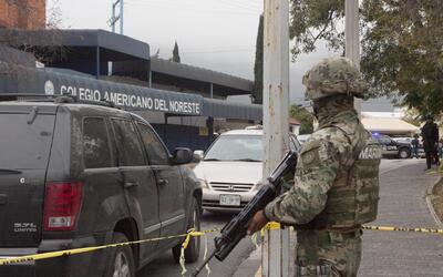 Operativo tras el tiroteo en colegio de Monterrey