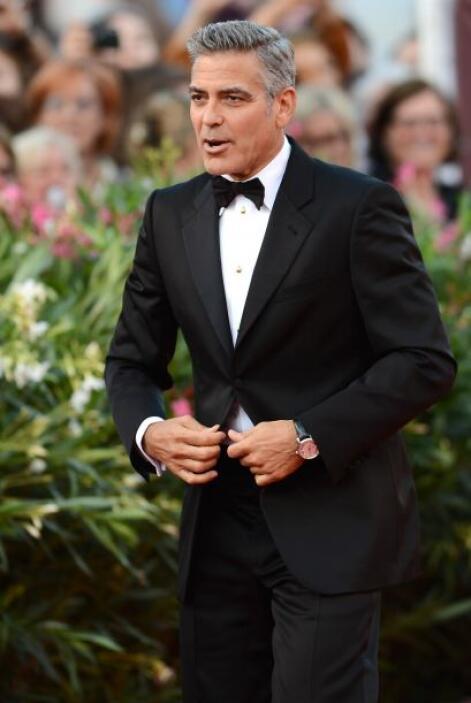 George Clooney nunca pierde la case.