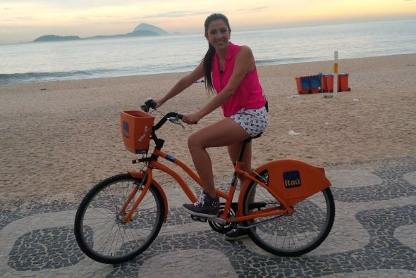 Su favorito, la bicicleta. Maity eligió esta opción para trasladarse.