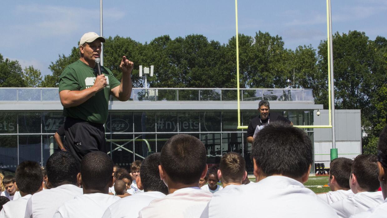 El ex jugador de los Jets fue parte de este evento.