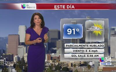 Los Ángeles tendrá cielos parcialmente nublados