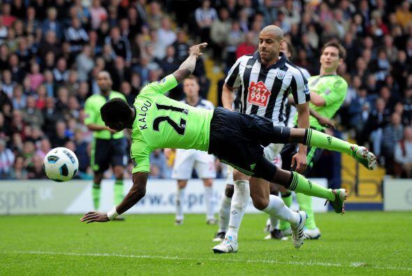 West Bromwich arrancó ganando con gol de Odem Odemwingie. Pero el Chelse...