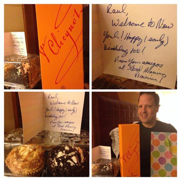 Raúl González está en Nueva York y recibió un regalo de sus amigos de Go...