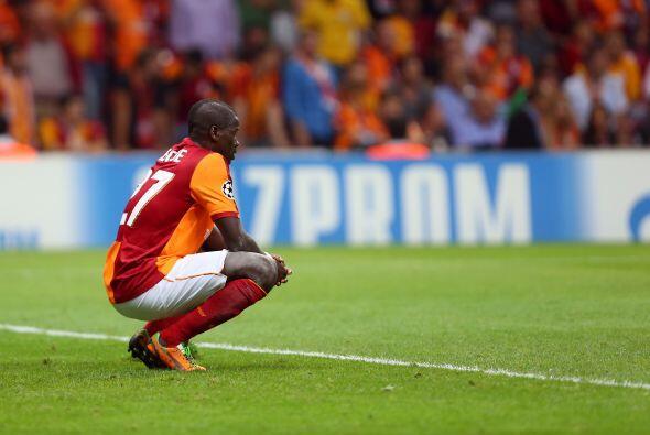 Los jugadores del Galatasaray no encontraban el modo de contrarrestar a...