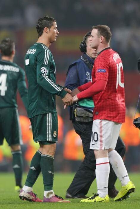 Dos ya históricos de los 'Diablos Rojos', Cristiano y Wayne Rooney.