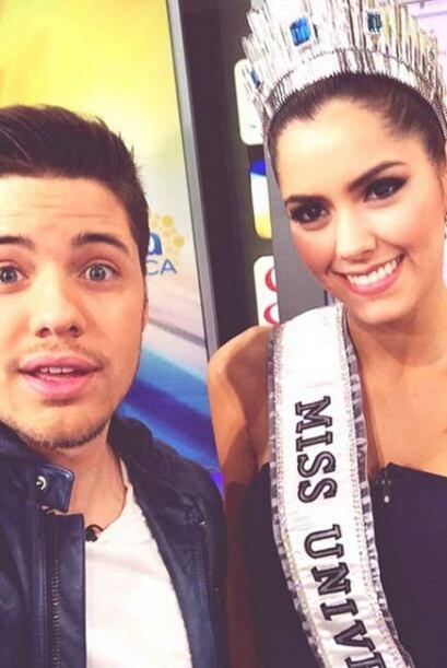 """Despierto con América, y hoy desperté junto a Miss Universe 2015"" dijo..."