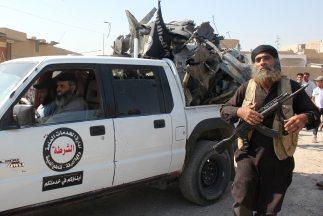 Rebeldes del Estado Islámico en el norte de Siria.