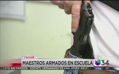 Maestros armados en escuela al norte de California