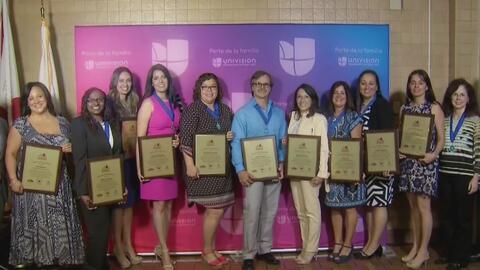 Maestros en el sur de Florida reciben reconocimiento a su labor y desemp...