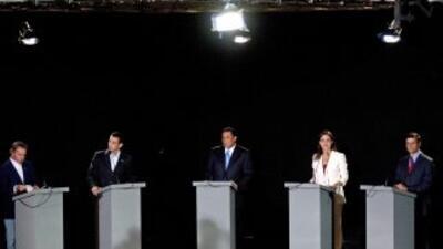 Cinco precandidatos de la oposición participaron en debate en Venezuela.