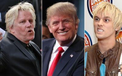 Entérate quiénes son las celebridades que están con Trump.