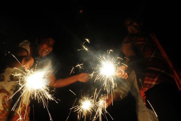 En Sri Lanka, la llegada del año nuevo no pasó desapercibida.