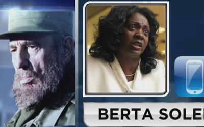 """Berta Soler: """"No nos alegramos de la muerte de un hombre, pero sí de la..."""