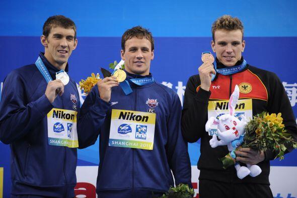 Phelps quedó por detrás de Lochte para conformarse con la plata, mientra...