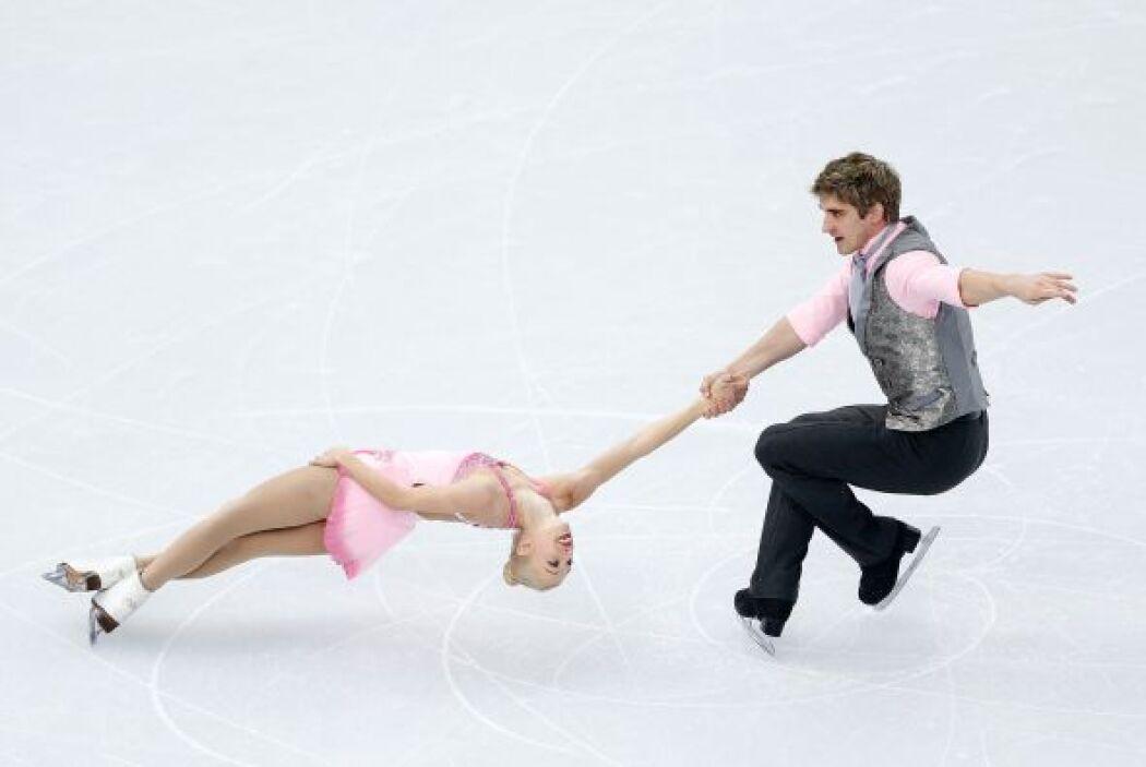 Los británicos Stacey Kemp y David King en el Iceberg Skating Palace.