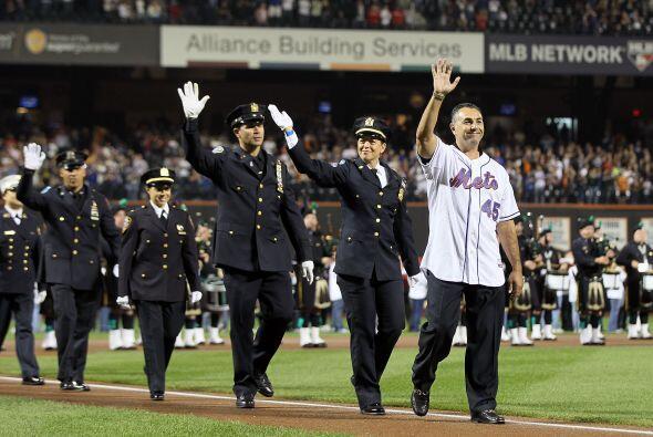 John Franco lideró a un grupo que representava al Departamento de Policí...