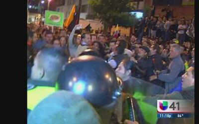 Protestas callejeras en Ecuador