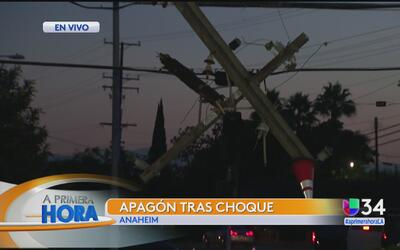 Accidente causó apagón en Anaheim