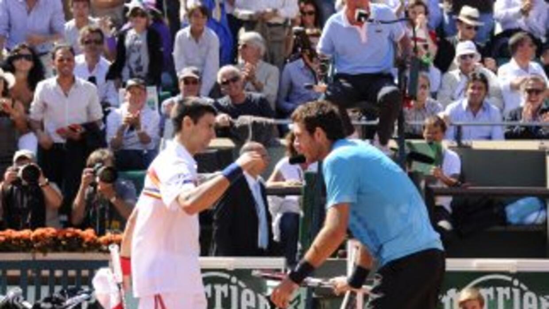 Djokovic y Del Potro.