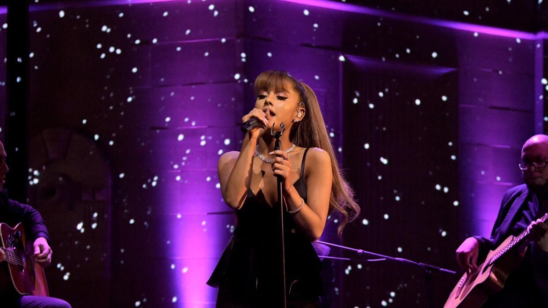 BEVERLY HILLS, CA - OCTOBER 13: Singer Ariana Grande attends Tiffany &am...