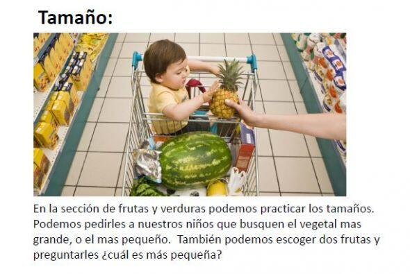 El supermercado es buen un lugar en donde los niños pueden descub...