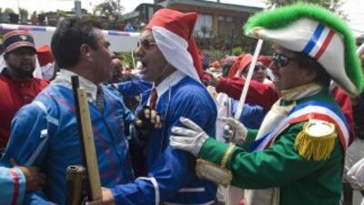 Representación de la batalla de Puebla....