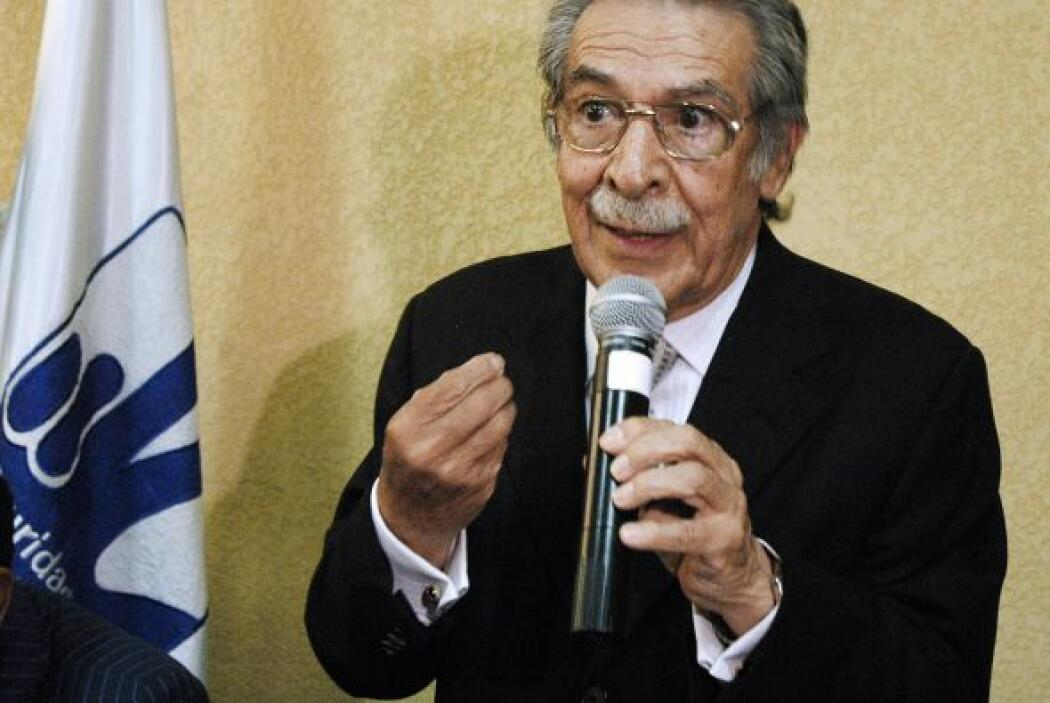 26 de enero. El ex dictador guatemalteco, José Efraín Ríos Mont, es proc...