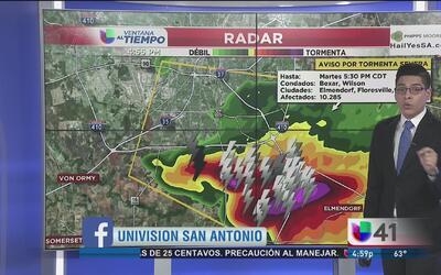 Alertas por tormentas severas al sur de Texas