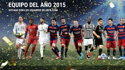 Los usuarios de UEFA eligieron su once ideal del año 2015