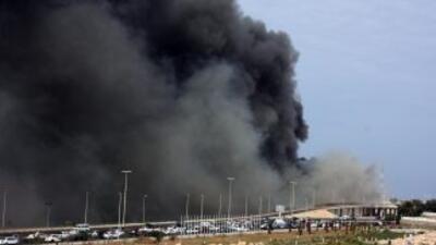 Varias explosiones se oyeron este sábado en las cercanías de una base na...