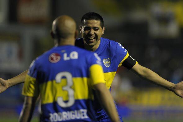Juan Román Riquelme está feliz, Boca Juniors ganó y saborea el primer pu...