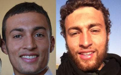 Quentin, antes y después de su conversión al islam.