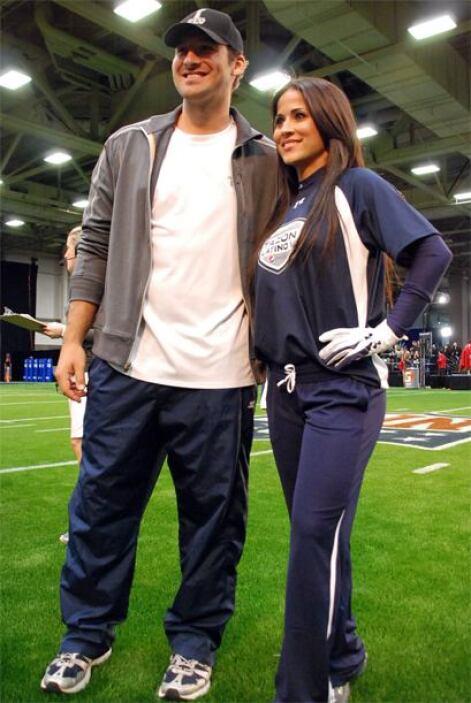 Garrido se tomó la foto con el QB Tony Romo.