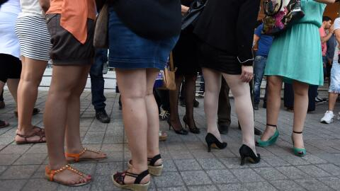 Mujeres en minifalda. (Imagen de Archivo).
