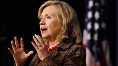 Legisladores de EU, pidieron a la secretaria de Estado de EU, Hillary Cl...