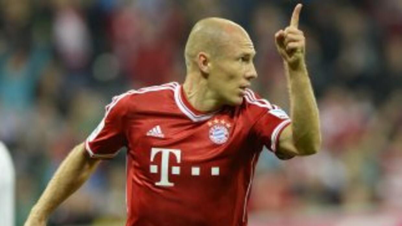El holandés Robben anotó el último gol del Bayern en la pasada 'Champion...