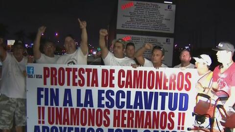 Camioneros del sur de Florida volvieron a salir a las calles a protestar...