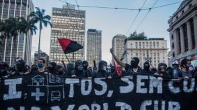 Protestas, el dolor de cabeza de Brasil.