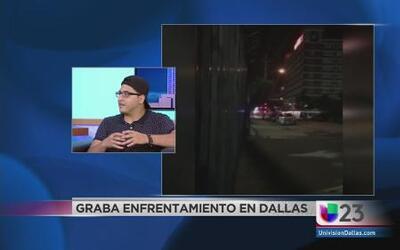 Grabó el tiroteo en Dallas