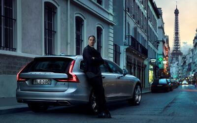 Ibrahimovic en comercial de la Volvo V90