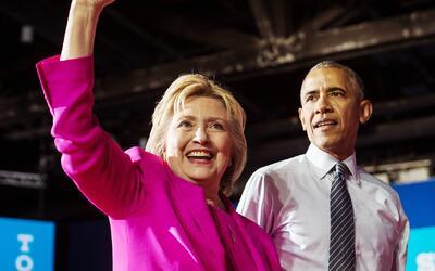 El Presidente Obama hace campaña apoyando a Hillary Clinton