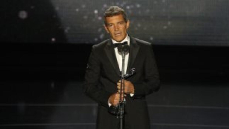 Antonio Banderas en los Premios Platino.