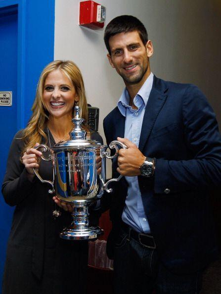 Novak Djokovic celebró su triunfo en Nueva York y Sarah Michelle...