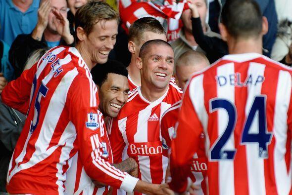 Stoke City festejó como local ante el Fulham con una victoria de...