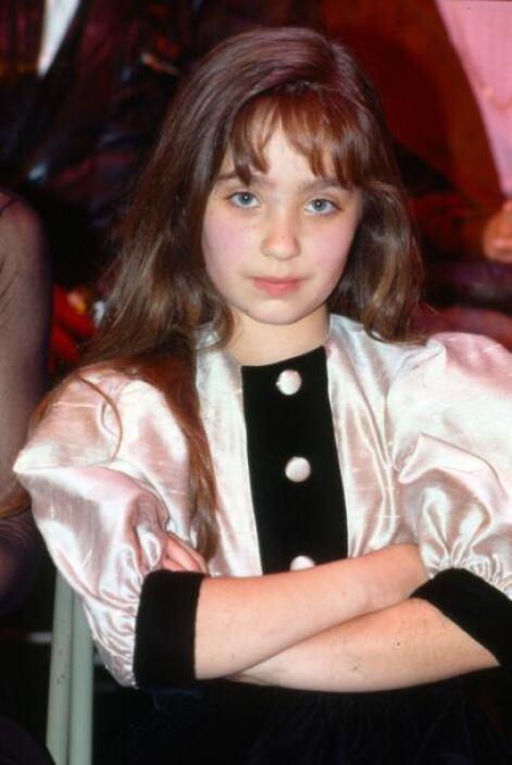 Anahí a los 10 años de edad, en 1993.