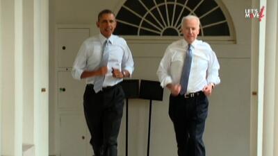 Barack Obama y Joe Biden corren por la Casa Blanca